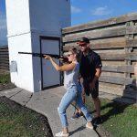lady shooting